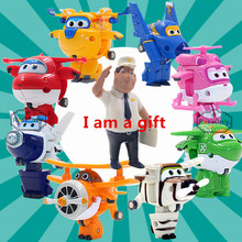 2016 New styles 8pcs/lot Super Wings toys Mini Planes 7cm Transformation Robot Action Figures toys baby toys for gifts(China (Mainland))