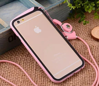 2014 New Arrival Bumper for iphone 6 4.7inch with lanyard Bumpers frame
