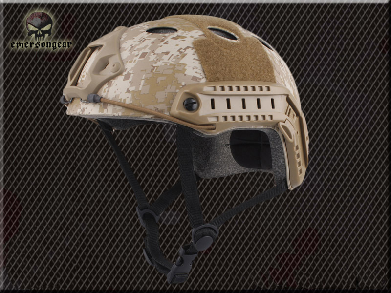 airsoft helmet Emerson FAST Helmet with Inexpensive Protective PJ Type Digital Desert Black Gray Seal<br><br>Aliexpress