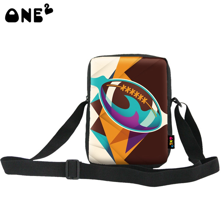 Buy one get one American football cartoon fashion single shoulder messenger long strip bag for boys girls university students(China (Mainland))