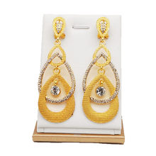 זהב עגיל תליון תכשיטי סטים חדש עיצוב אפריקאי נשים עגיל(China)