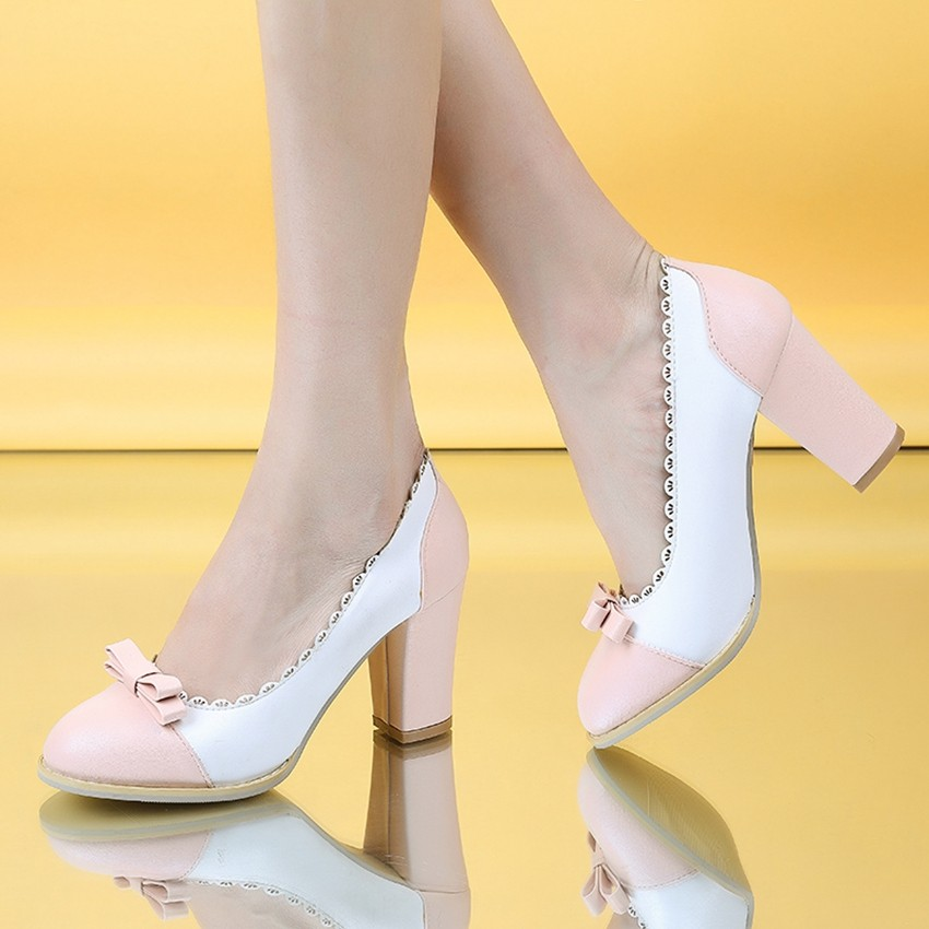 2017 New Arrival Plus Big Size 31-43 Pink Green Black Fashion Sweet High Heel Spring Autumn Female Lady Women Shoes Pumps D1043