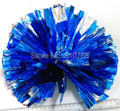 Free Shipping Blue All Star first single paragraph cheerleading pom pon Cheerleading cheer supplies#1834(China (Mainland))
