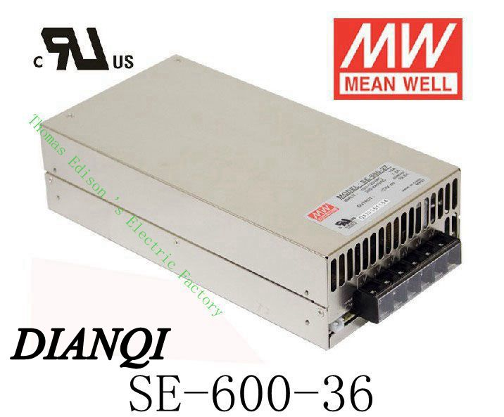 Original MEAN WELL power suply unit ac to dc power supply 600W 36V 16.6A SE-600-36 MEANWELL good quality(China (Mainland))