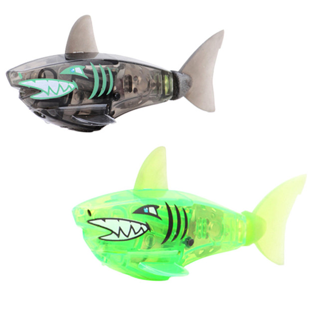 New Baby Bath Toys Actived Battery Powered Robot Shark Fish Swim Toy For Kids Children Gift Random Color