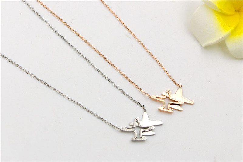 316L-Stainless-Steel-Fashion-Plain-Shape-Pendant-Necklace-Gold-Chain-Necklace-Never-Fade-For-Women-Gift (4)