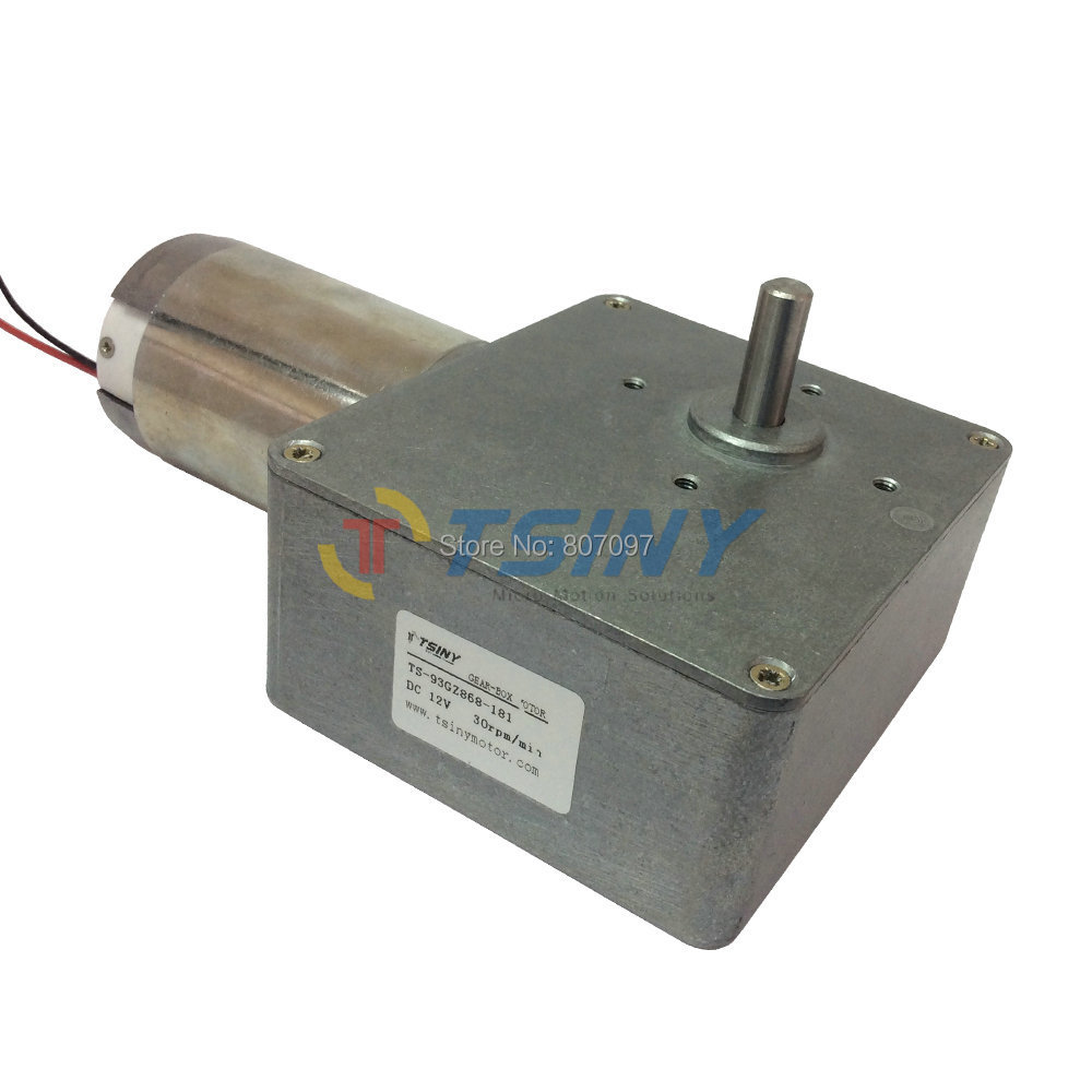 Dc 12v 30rpm high torque electrical worm gear motor speed for Speed reducers for electric motors