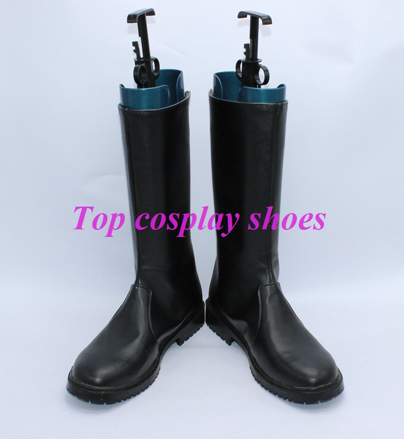anime Fullmetal Alchemist Cosplay Roy Mustang Cosplay Boots shoes black version new come #GAI0240(China (Mainland))