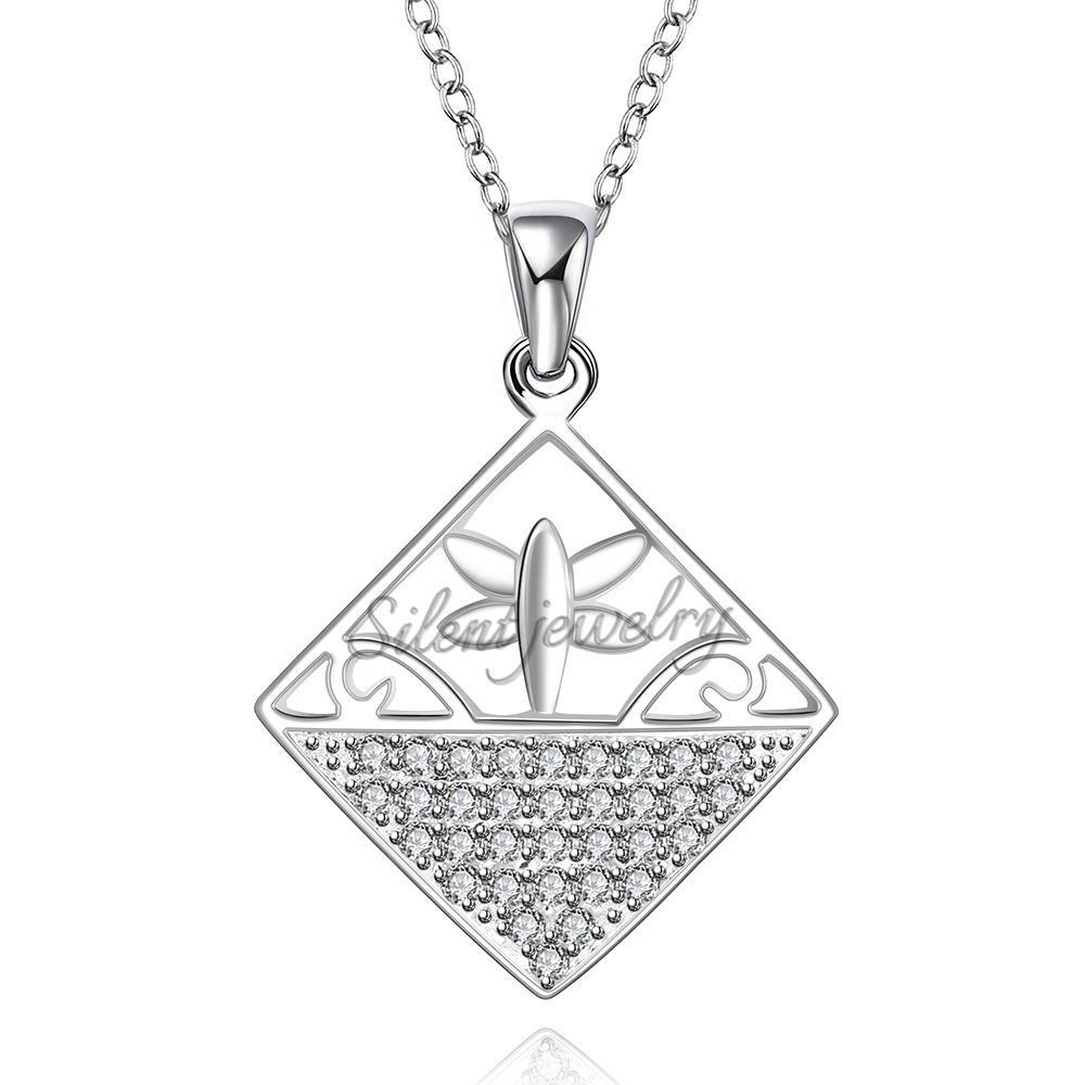 free shipping Fine woman cross country jewelerly a unique silver-plated necklacehot brand new fashion popular chain necklace(China (Mainland))