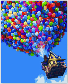 Flying Pixar painting by numbers quadros home decor wall art decorative pictures for living room diy oil on canvas paint HY955(China (Mainland))