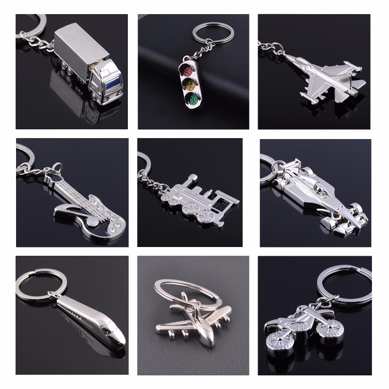 3D World Cup Metal Gift Keychain Motorcycle Aircraft Train Key Ring Jewelry Car Key Chain Game Key Holder Souvenir chaveiro para 1