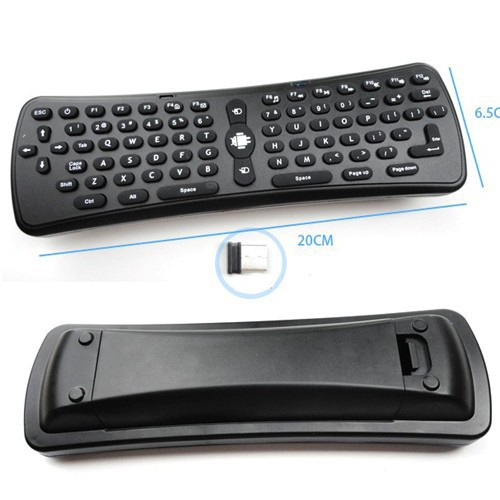 2.4Ghz Wireless 6 Axis Gyroscope Air Mouse Keyboard Remote Control for PC/Smart TV/Android TV Box/Windows/MAC/Linux OS(China (Mainland))