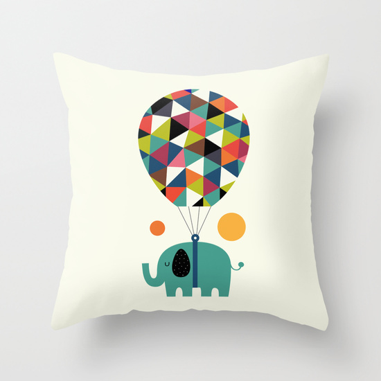 Throw Pillow Covers Society6 : Fly High and Dream Big Nursery Decorative Cushion Covers Kids Throw Pillow Case Custom Free ...