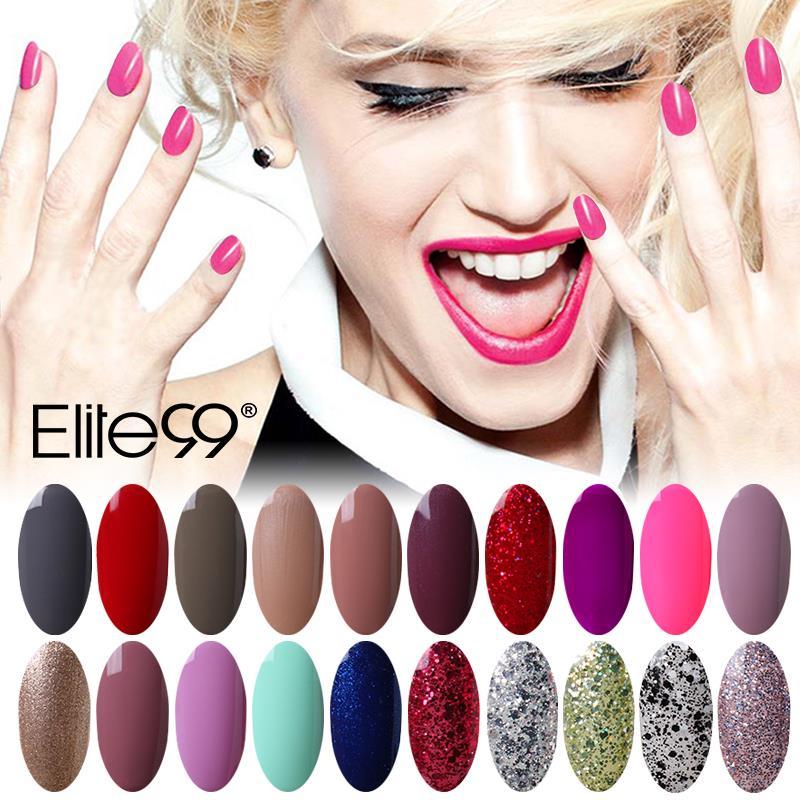 Elite99 7ml LED UV Nail Gel Long Lasting Hot Sale Gel Lacquer DIY Nail Art Colorful Nail Gel UV Gel Set UV LED Lamp Curing(China (Mainland))