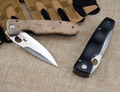Japan Sharpest Folding Pocket Knife Two Style Tactical Survival Knife Black Yellow Handle 1509