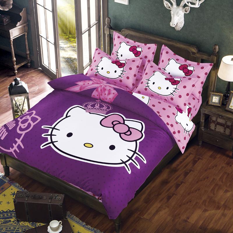 Hot sale fibrics doraemon bedding set 3 4 pcs bed for 3 4 beds for sale