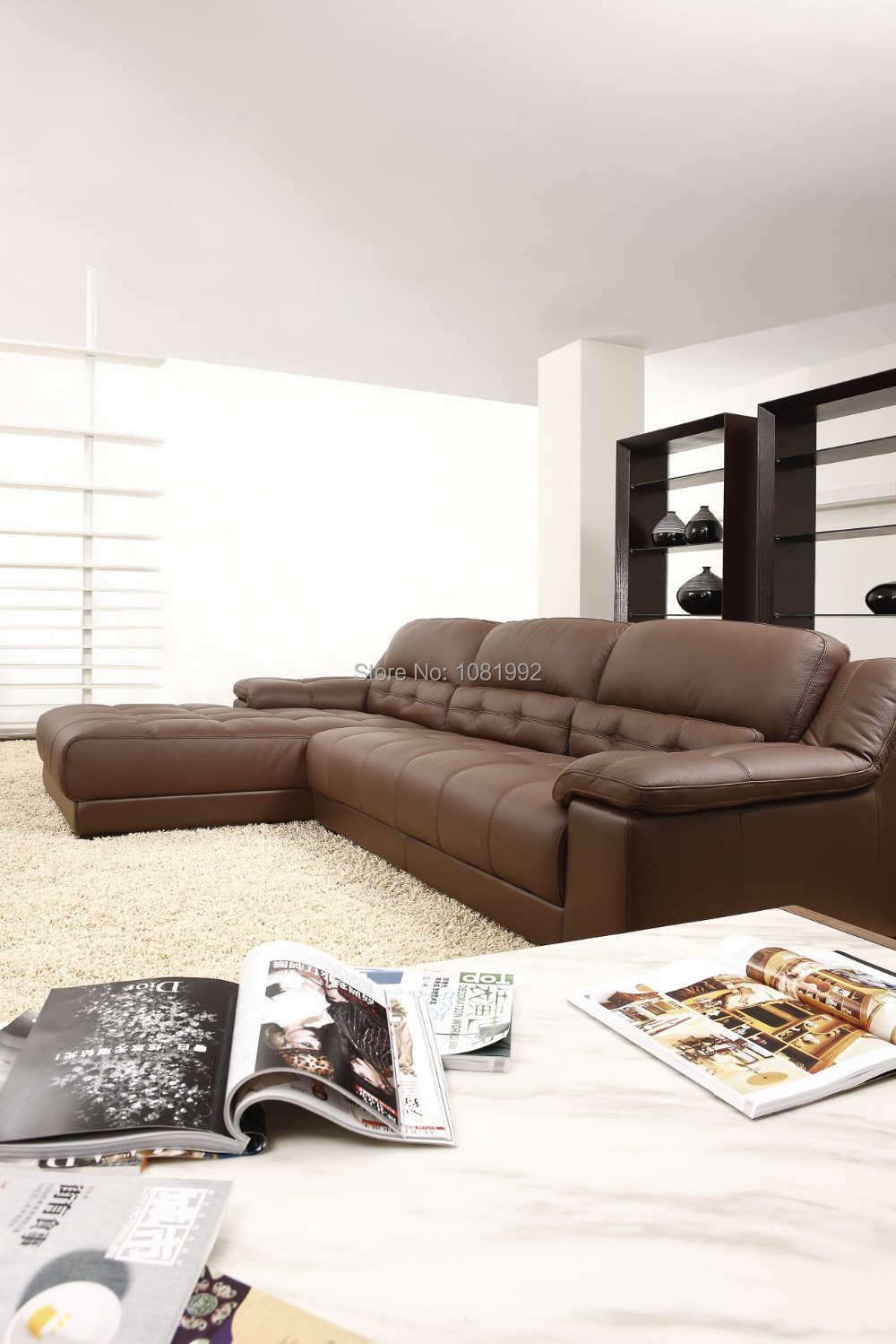 Moderne coin en cuir de la famille canapé hotsales modèle meubles ...