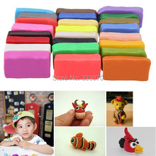 New 24pcs/Set Colorful Silly Putty Plasticine Kid Children For Fimo Polymer Clay Educational Soft Play Dough Toy Craft DIY(China (Mainland))