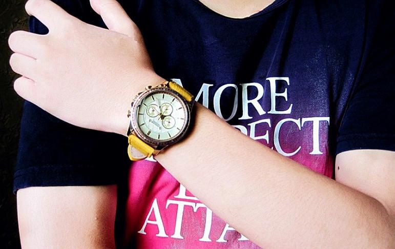 Людей юлий Homme наручные часы кварцевых часов топ мода ретро спорт платье кожа мальчик день рождения валентина подарок 021