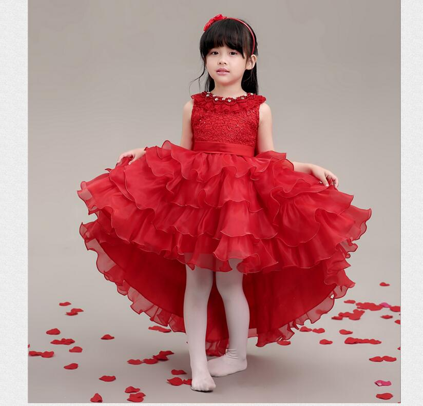 The most fashionable children's wear formal attire of the little girl luxuriant Pageant Dresses first holy communion dress(China (Mainland))
