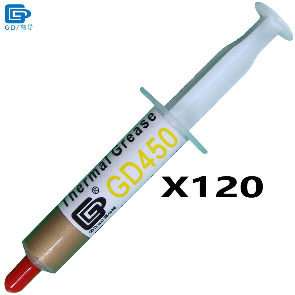 GD Brand Thermal Conductive Paste Grease Silicone Plaster GD450 Heat Sink Compound 120 Pieces Net Weight 7 Grams Golden Cold SY7