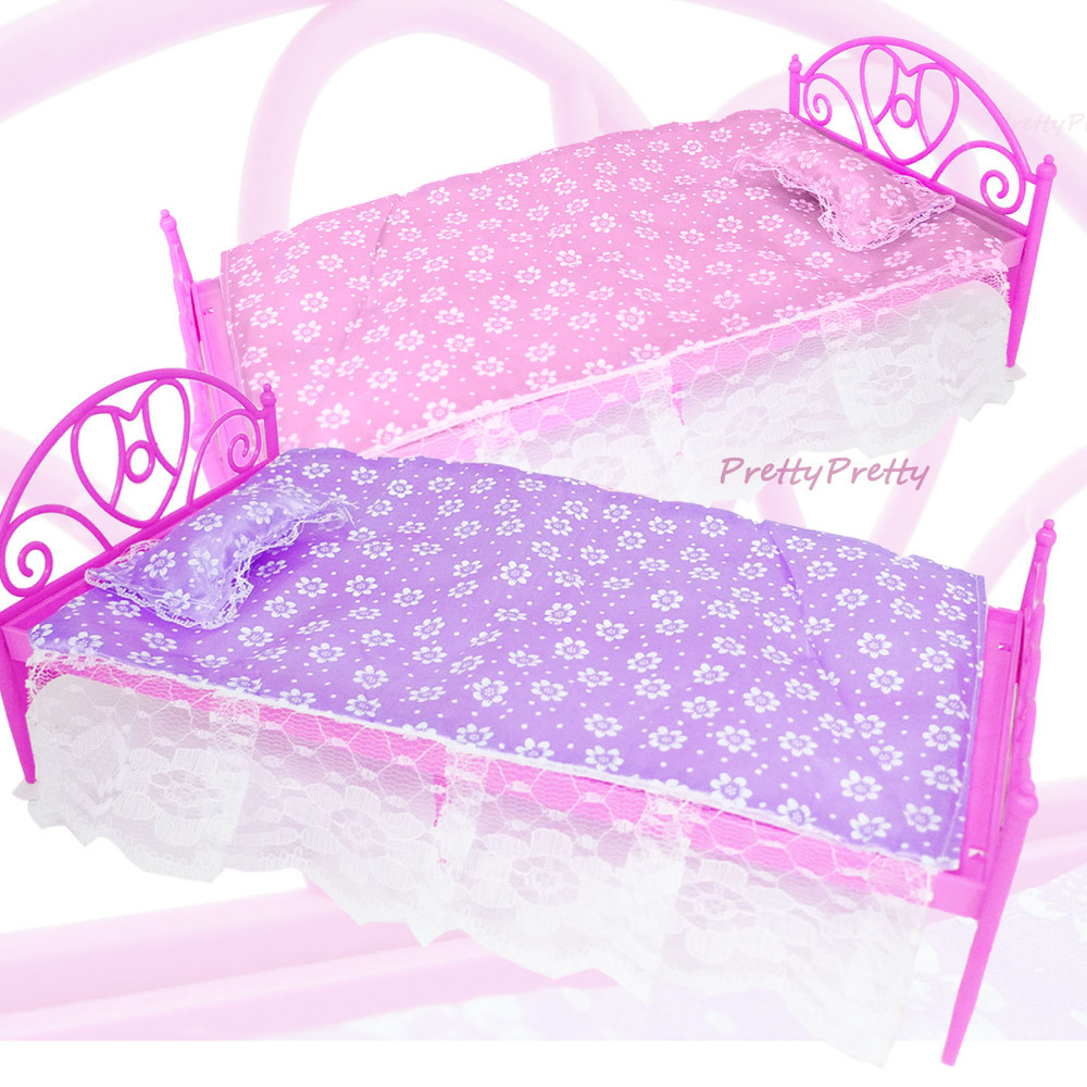 Free Shipping Two Set Doll Accessories Pink+ Purple Mini ...