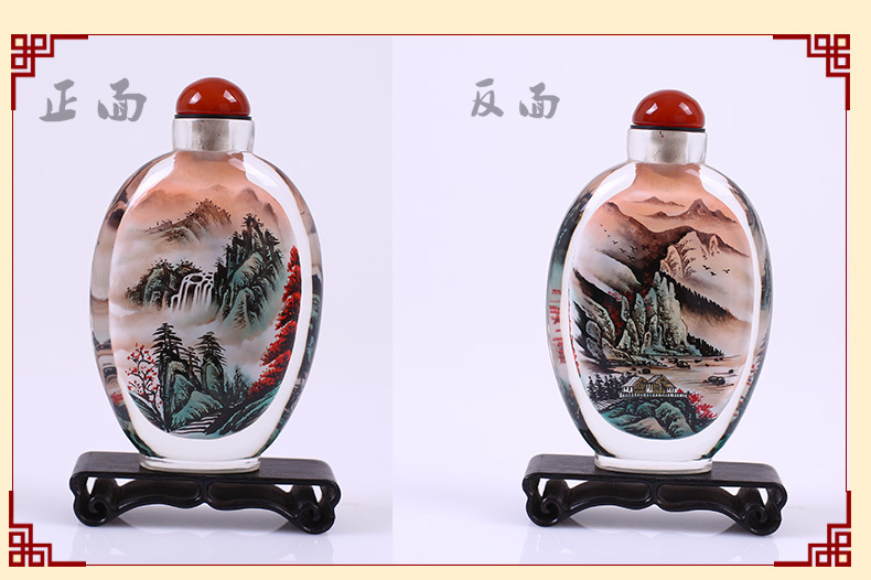 Inner-painted Snuff Bottle, a unique handicraft that is of a high artistic value, is the very treasure(China (Mainland))