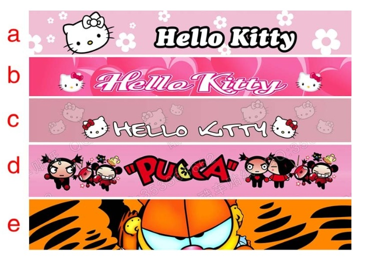 UNIVERSAL CUSTOMIZED Car 122cm*20cm Sticker/car sticker/hello Kitty China doll/Garfield/shade front posts(China (Mainland))