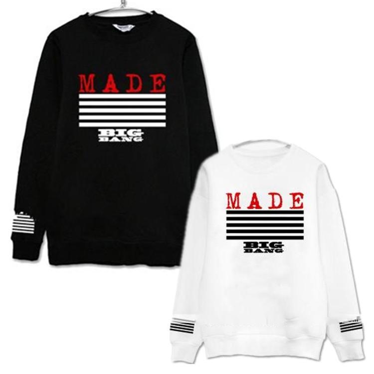 big bang kpop hoodies Bigbang album regression MDE thin round neck autumn clothing.kpop clothes GD G-Dragon