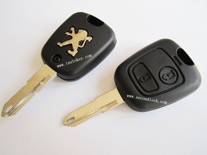 Peugeot 206 2 buttons remote key shell(China (Mainland))