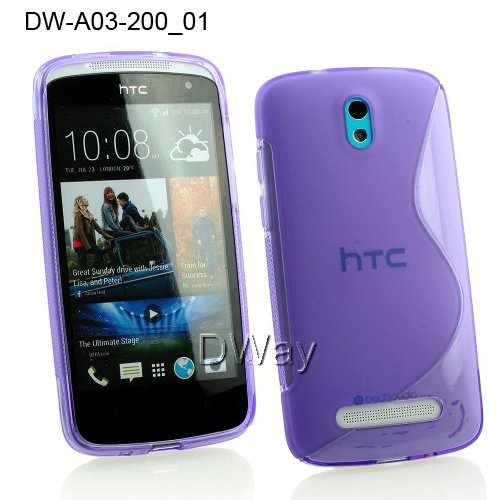 TPU S Line Wave Rubber Gel Soft Back Cover Case For HTC Desire 500 Mobile Phone Case(China (Mainland))