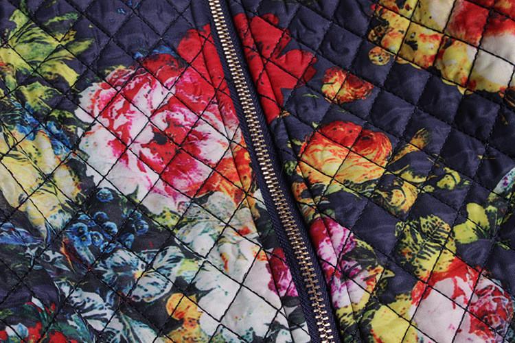 Скидки на Большой размер 2XL зима мода женские элегантные старинные пальто ретро взлетно-посадочной полосы характер отпечатано качество теплым хлопчатобумажной ткани
