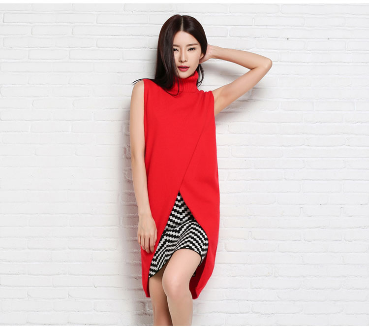 adohon 2016 womens winter Cashmere sweaters and auntmun women knitted Pullovers High Quality Warm Female thickening Sleeveless