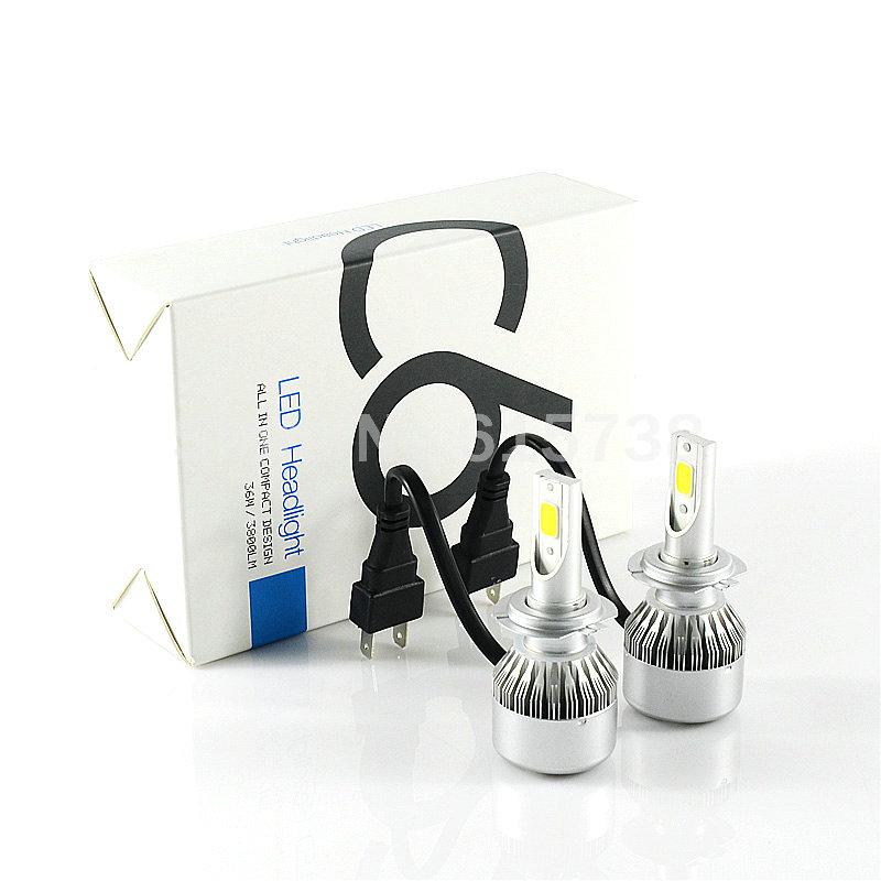 66W 6000LM COB LED H7 Car Headlights All in One H8 H9 9005 HB3 9006 HB4 Car Auto H11 LED Headlight Bulbs Headlamp White/Yellow(China (Mainland))
