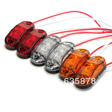 2X LED Side Marker Light Clearance Lamp 12V 24V E-marked DOT Car Truck Trailer UTE Audew(China (Mainland))