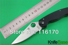 SPYDERCO S30V millitary C81 C81GP2 folding knife CPM-S30V 58HR Black G10 handle pocket Tactical millitari knives paramilitary 2(China (Mainland))