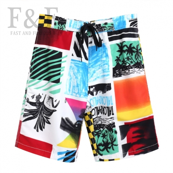Hot! Fashion Boy Kids Boardshort String Draw Multicolor Fancy Design With Pocket Free Shipping(China (Mainland))