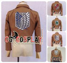 Косплей-костюмы атаки на титане Shingeki нет Kyojin куртка пальто наряд 5 стили