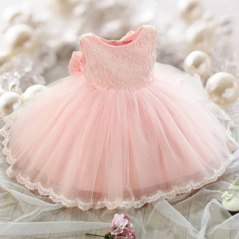 Baby girl dress baptism christening gown infant princess dress lace