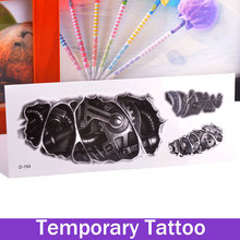 Robot Robotic Arm Mighty Mechanical Fashion Body Art Removable Waterproof Temporary Tattoo Stickers Tatto Designs