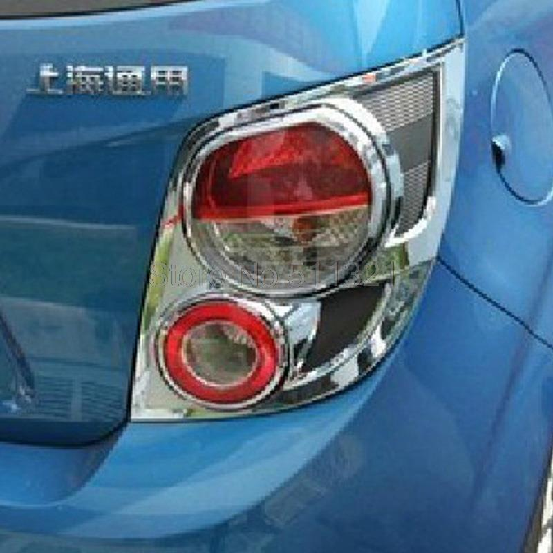 ABS Chrome Rear Tail Light Lamp Cover Trim Fit For Chevrolet Aveo Sonic 2011-2013 2nd Generation 5 Door Hatchback <br><br>Aliexpress