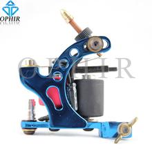 OPHIR Tattoo & Body Ar Blue Rotary Tattoo Gun Dragonfly Rotary Tattoo Machine 8 Wrap Coil Dual-coiled 6V-10V Shader Liner#TA018E(China (Mainland))