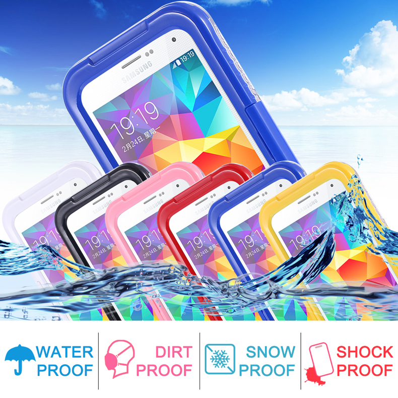S5/ S4/ S3 Waterproof Cool Transparent Case For Samsung Galaxy S3 /S4 /S5 i9600 Phone Cover Leisure Sports Swimming Candy Capa(China (Mainland))