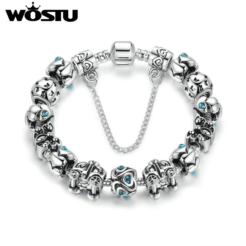 2016 New Fashion 925 Silver Vintage Charm Bracelet For Women Beads Fit Original European Bracelet DIY Jewelry Pulseras Gift(China (Mainland))