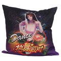 2016 new custom fashion Cotton Linen dance party wedding Pattern Invisible Zipper decorative Cushion Covers for