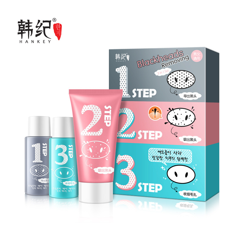 Hankey Skin Care Set Blackhead Mask Makeup Deep Cleaner Face Nose Black Head Remover Peeling Peel Facial Acne Masks Cosmetics(China (Mainland))
