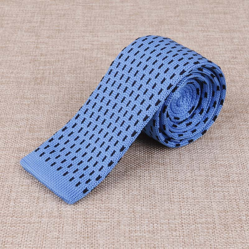 Hot Sale Business Wedding Grooms Polyester Silk Solid with Dot Necktie for Suit Shirt 6 cm Slim Knit Tie Neckwear Ties for Men(China (Mainland))
