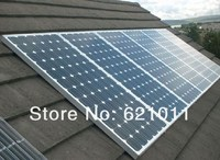 Economic solar system, 1kw off grid home solar system, generate about 3500WH electricity everyday, home solar generator