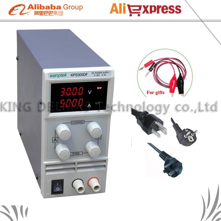 Фотография LED Digital Adjustable DC Power Supply ,0~30V 0~5A ,110V-220V, Switching Power supply 0.01V/0.001A mA display