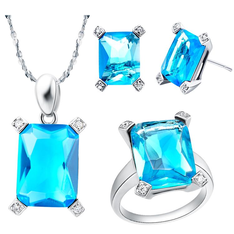 Ювелирный набор Ulove 925 T150 Jewelry Sets 925 Sterling Silver Full CZ Zircon